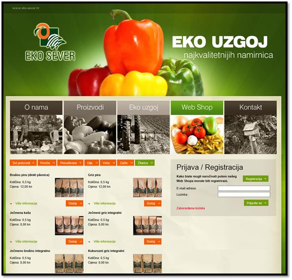 Eko Sever webshop